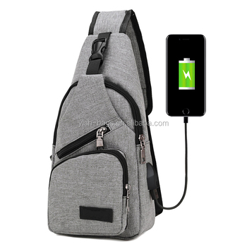 Custom Cycling Young Pople leisure Sport Triangle Knapsack USB Bags