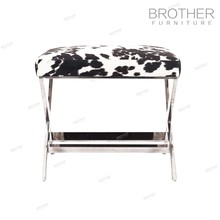 Home furniture fabric upholstered low stool ottoman