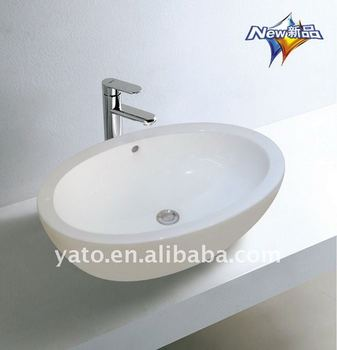 YC-12 oval design art table top wash basin, View table top wash ...