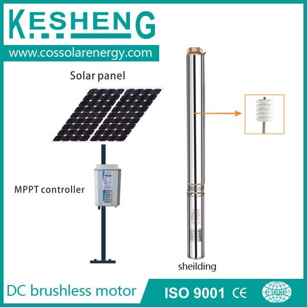 4 Inch Dc Subemersible Deep Well Solar Water Pump Max Head
