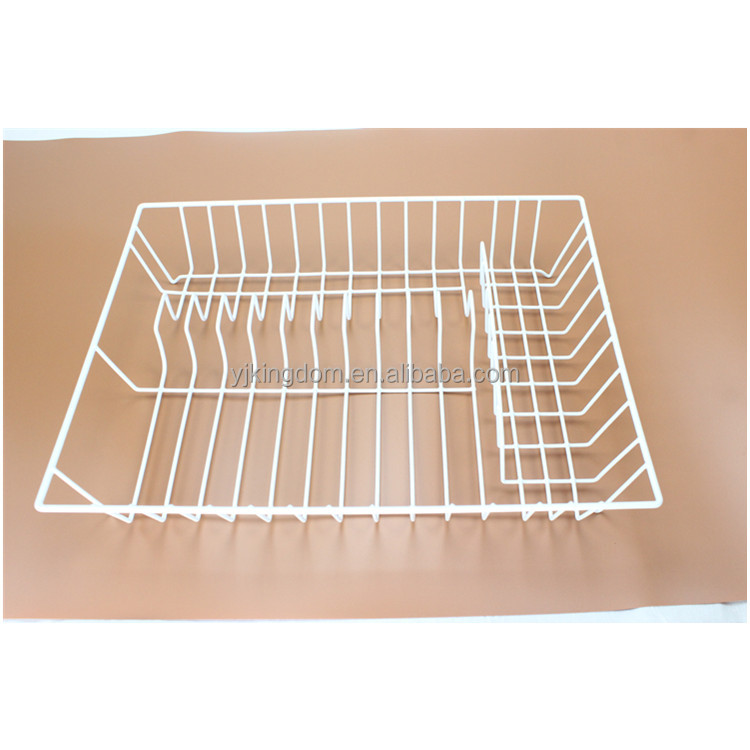544-64 kitchenware wire dish drainer with dipped plastic