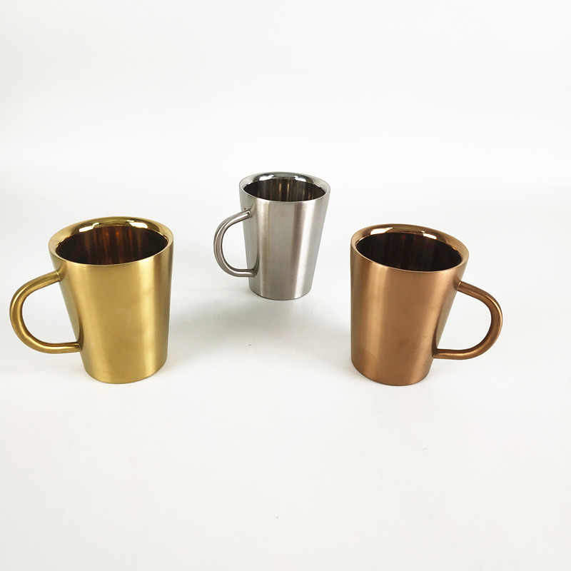 customized logo stainless steel metal coffee cup travel mug