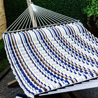 Quilted Polyester Wooden Big Hammock