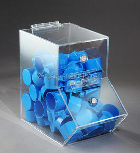 enterprises can small dispensing bin with magnet on door facing right