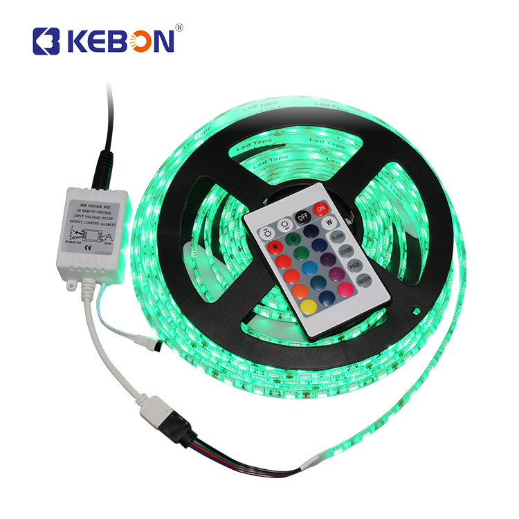 กันน้ำโปรแกรม 60d 12 v 24 v RGB bendable SMD 5050 Led Strip Light controller
