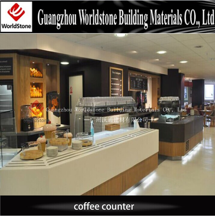 Customized Design Coffee Shop Cashier Counter For Sale