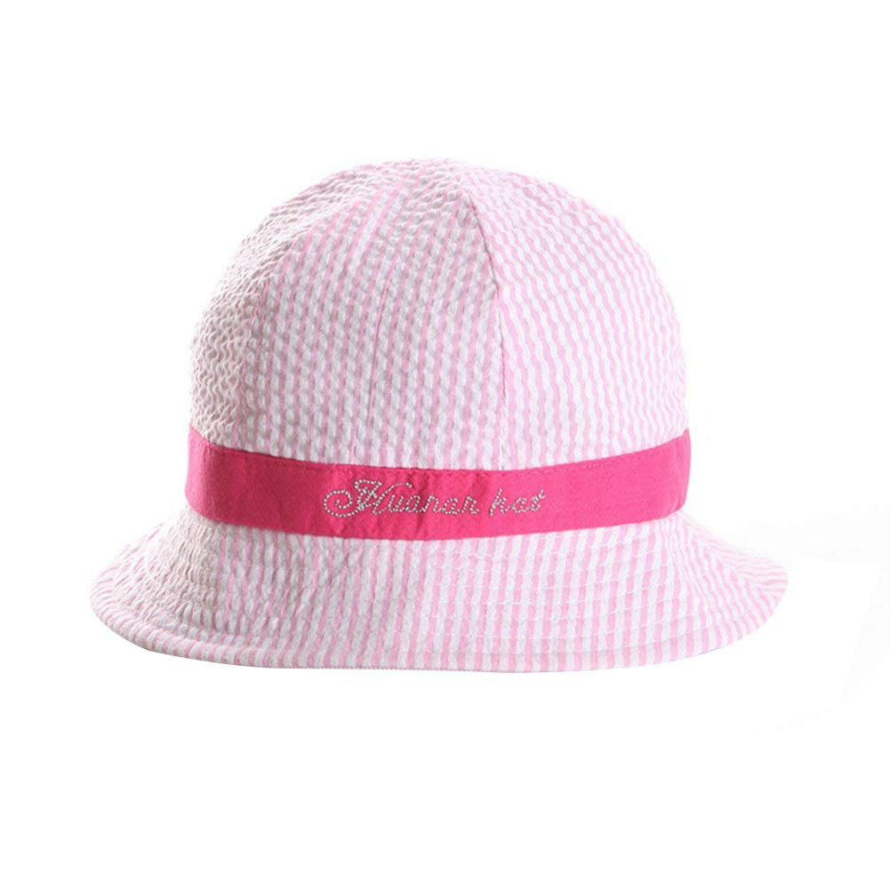 ae9415045fe Get Quotations · Baby Sun Hat Boys Girls Toddler Unisex Cotton Bucket Style  Summer Beach Hat Sunhats for 3