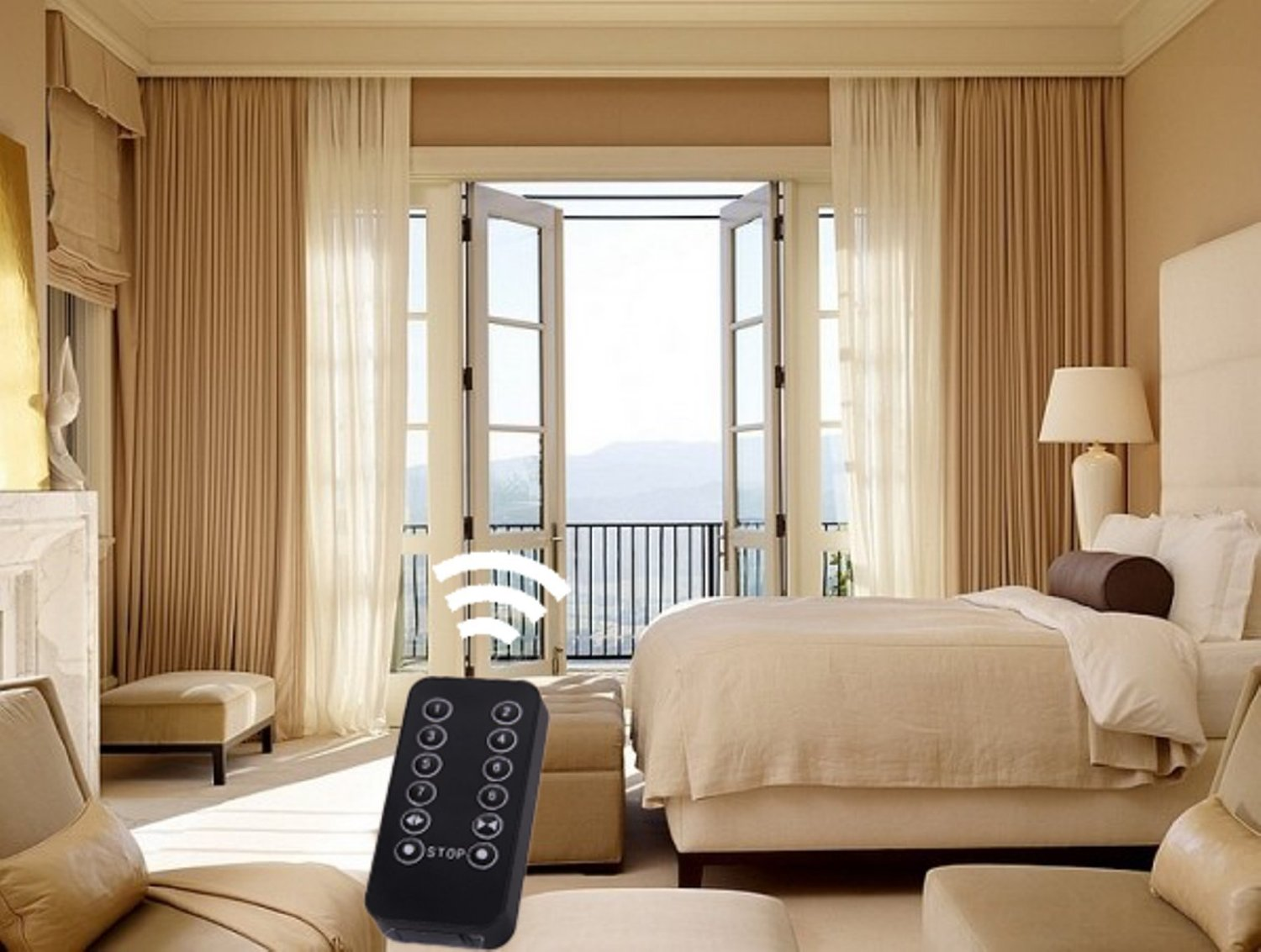 motorize automate your home motorized somfy drapes with residential curtains and interior