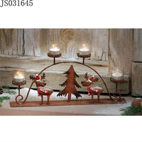 2016 New Christmas decoration, Metal candle holder with deer and Christmas tree design