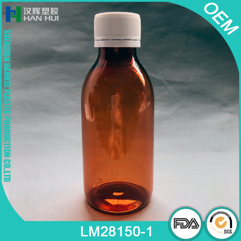 150ML AMBER PET PLASTIC LIQUID MEDICINE BOTTLE