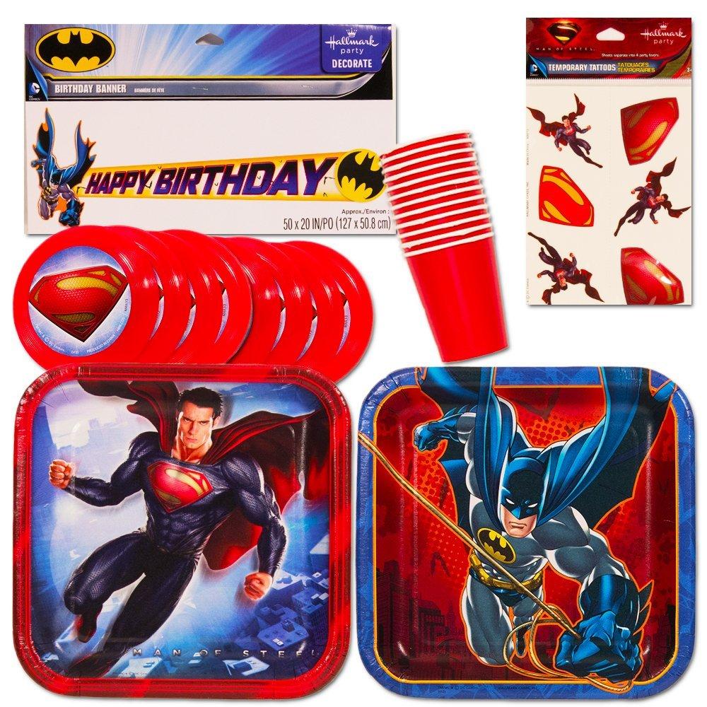 Get Quotations Justice League Batman V Superman Party Supplies Set Favors Plates Cups