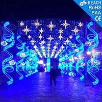 Christmas Decoration Led Motif Cross Street Light With Fancy 3d ...