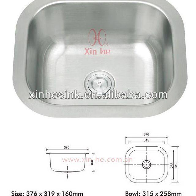 Single Bowl Stainless Steel Pedestal Sink(A74)