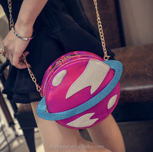 Bling bling laser Saturn bulk wholesale handbags, Fashion souvenir bags(SWTJU1845)