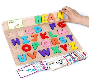 New Style Educational Toys English Word Learning Puzzle Toys Kids Alphabet Puzzle Wooden Alphabet Puzzle View Educational Wooden Alphabet Puzzle Toy Product Details From Guangzhou S Up Kids Toys Co Ltd On Alibaba Com