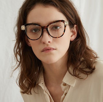 3ebf79403ee7 Luxury Ladies Cat Eye Glasses Frame Vintage Leopard Crystal Eyeglasses  Frames Women Prescription Glasses Eyewear