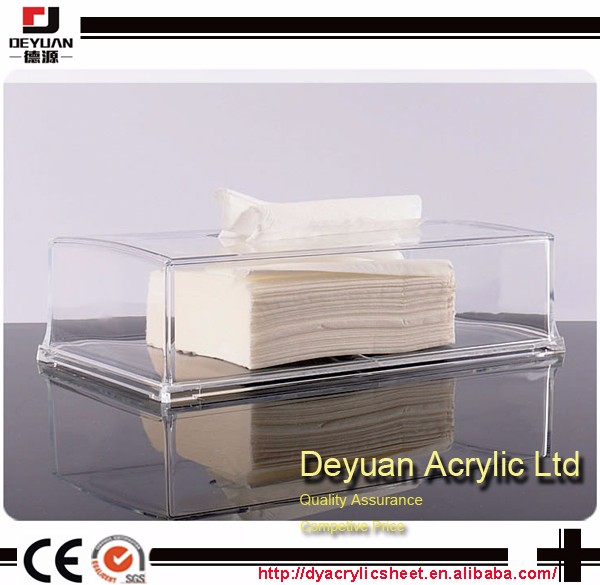 Napkin Holder, Clear Acrylic Cocktail Napkin Holder for Restaurant,Office,Party,Home Table