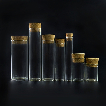 1ml 5ml 10ml 15ml 20ml 30ml 50ml 60ml clear wishing bottle glass vial with wooden cork stopper