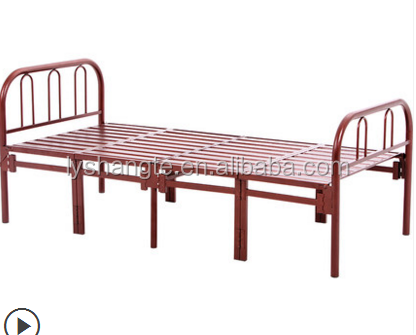Adult Used Folding Metal Bed For Single with 11 legs