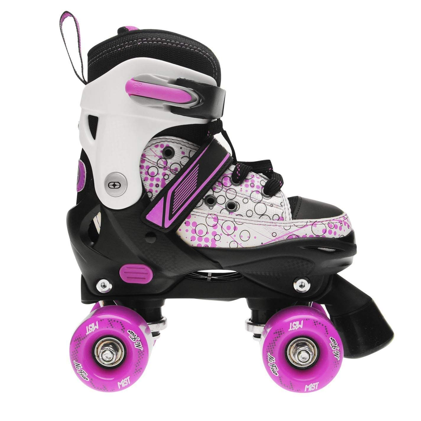 No Fear Kids Girls Mist Quad Skates Junior Buckle Hard Shell