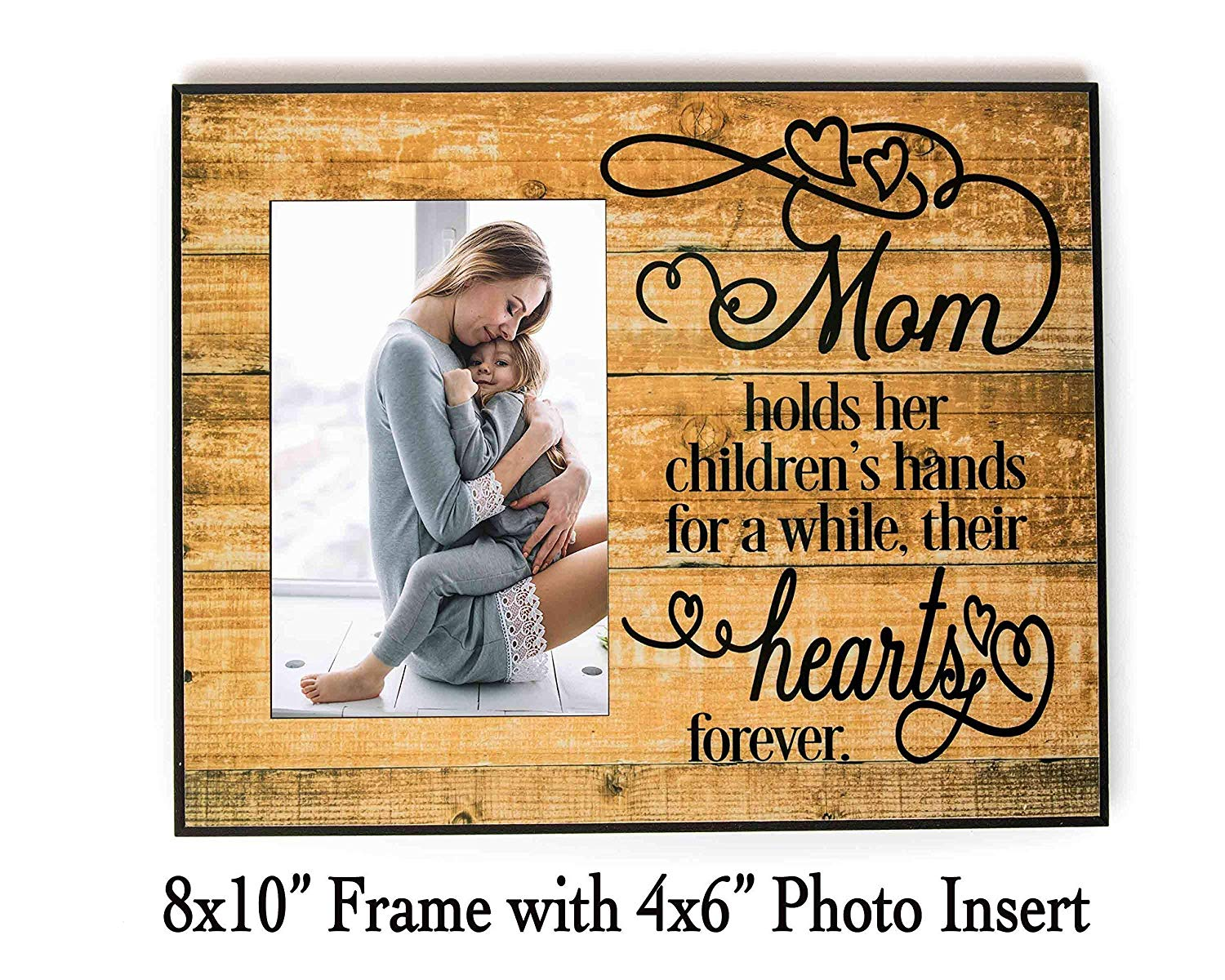 """A mother holds her child's hand 8x10"""" Frame with 4x6"""" Photo Insert, Made in USA by PaisleyGroveGifts"""