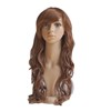 High Temperature Fiber Hot Sale Synthetic Brown Long Curly Cosplay Wig For Adult Body Wave Wig