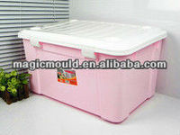 high quality good design plastic crate box for things injection mould