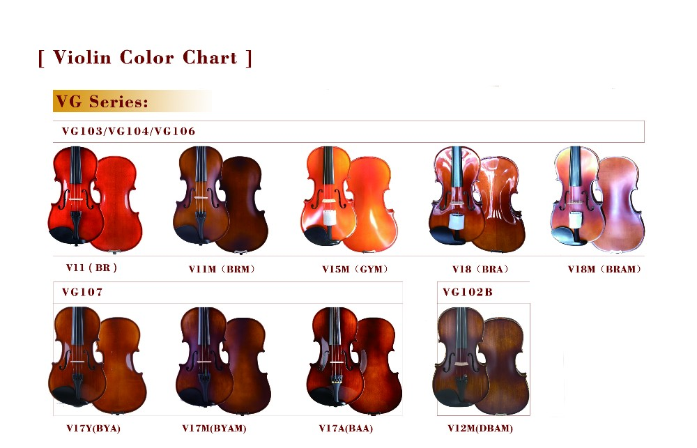 Wholesale Entry Level Acoustic Violin Outfit For Students Vg103