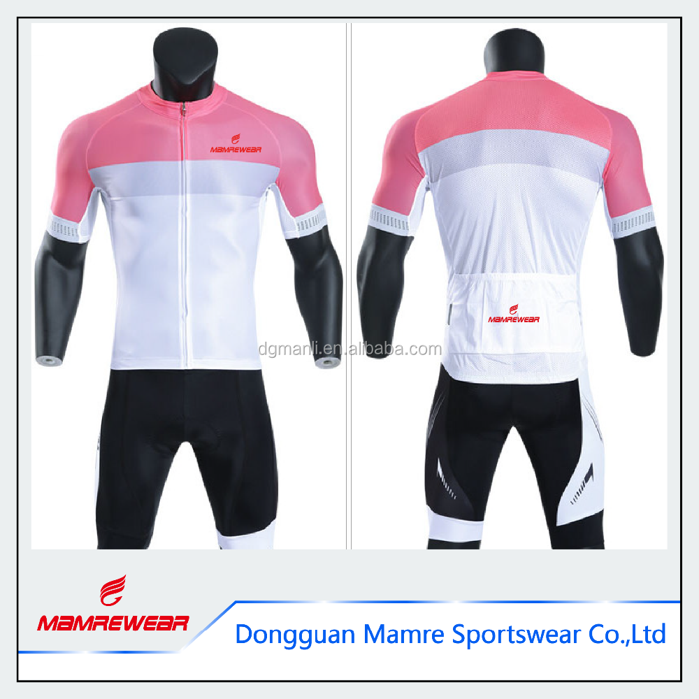 Wholesale dye sublimation printing compression cycling jersey custom MITI fabric bicycle jersey wear