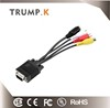 3 RCA Female Converter Cable VGA to Video TV Out S-Video Digital AV Adapter from china