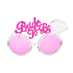 Wholesale bride to be badge hen night party pink glasses , novelty team bride bachelorette party glasses