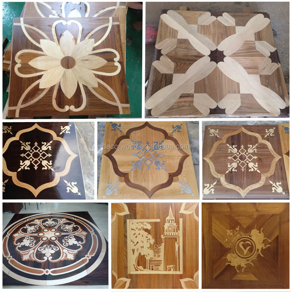 Engineered Wood Walnutoak Veneer Art Pattern Parquet