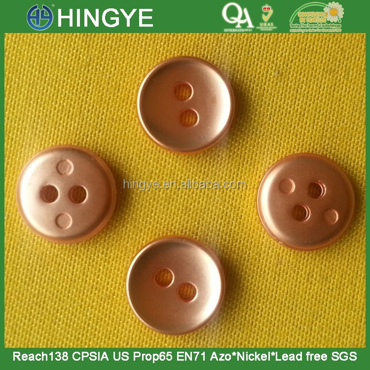 4 Holes ABS Button in Rose Gold NF Matt or Shiny Finishing --- P15288