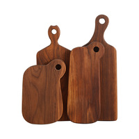 1pc Black Walnut Chopping Blocks Kitchen Wood Food Plate Wooden Pizza Sushi Bread Whole Wood Tray Cutting Board No Paint