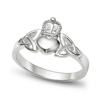 9ac05184f4 Factory Directly Sellingn Custom Design Sterling Silver Irish Friendship & Love  Band Rings For Gifts