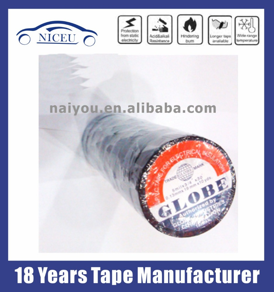 PVC tape electrical insulation tape globe tape from factory manufacturer