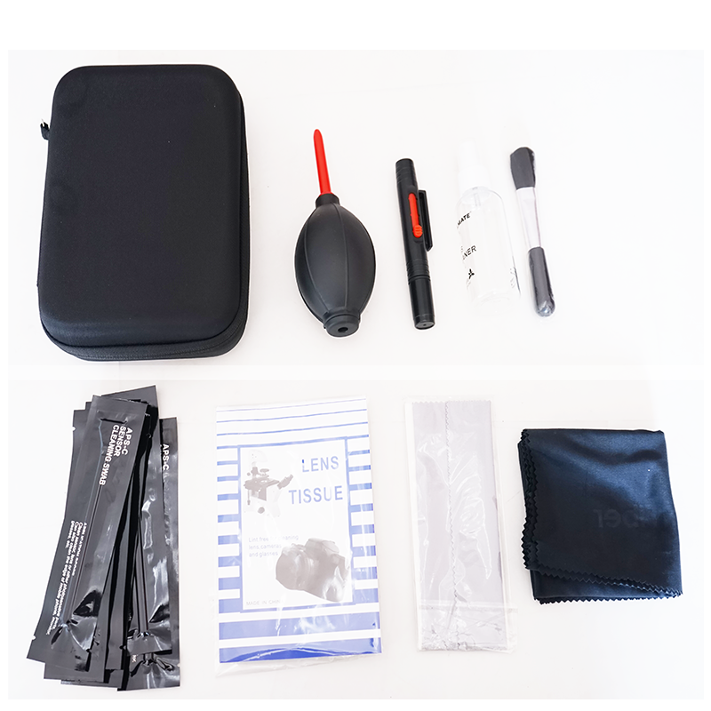 Foto Professionele Cleaning Kit voor DSLR Camera 9 In 1 Met Draagtas
