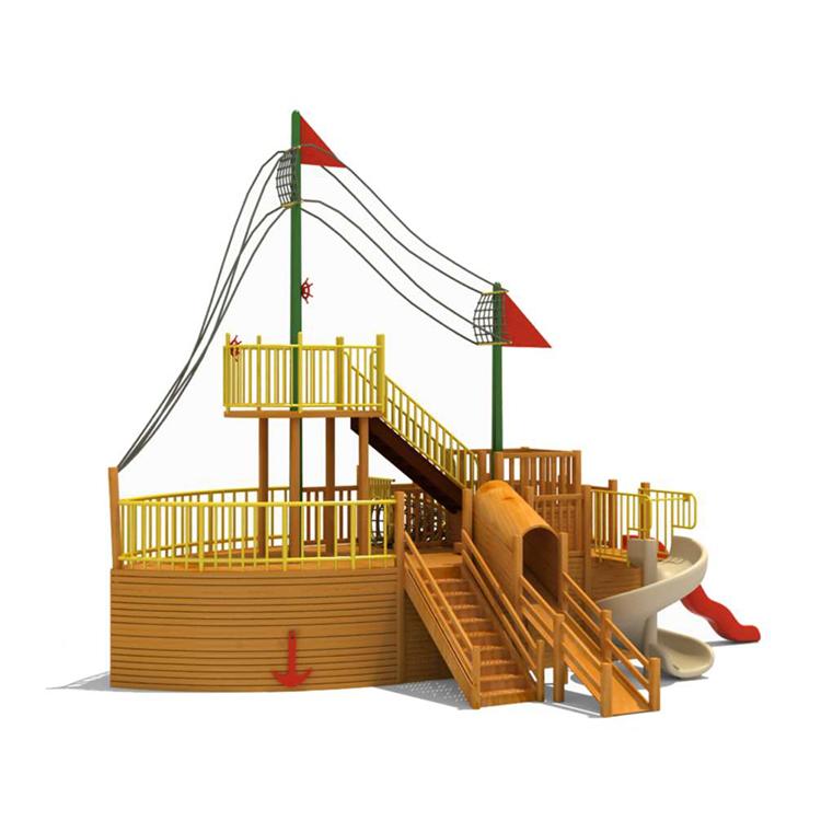 Hot Sale Backyard Wood Swing Outdoor Playground Pirate ...