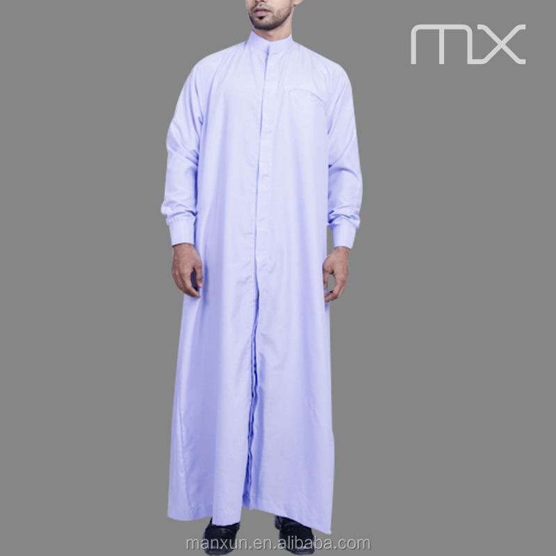 Long Sleeves Men Arab Thobe Muslim Mens Pathani Kurta Modest ...