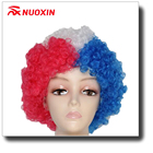 Wholesale Football Fan Items Fan Synthetic Wig