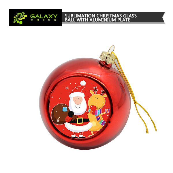 2017 Sublimation Blank Christmas Ornaments Printable Round Glass ...