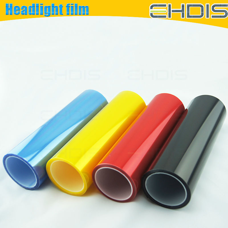 the best cost performance bule colored headlight film car body color change vinyl sticker