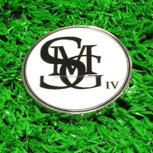 Enamel magnetic custom golf poker chip ball marker with company logo