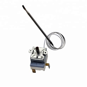 Capillary thermostat for oven, water heater and deep friers
