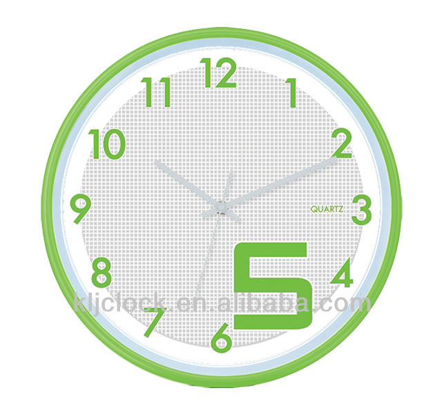 Promotional Wall Clock WH-6758 Special Nunber 5 Big 5 Design