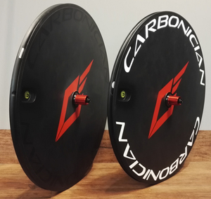CARBONICIAN 700C 23mm wide track road TT tubular clincher carbon fiber disc wheel