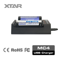 XTAR new released 4 slots MC4 1 amp battery charger 3 stage for vape