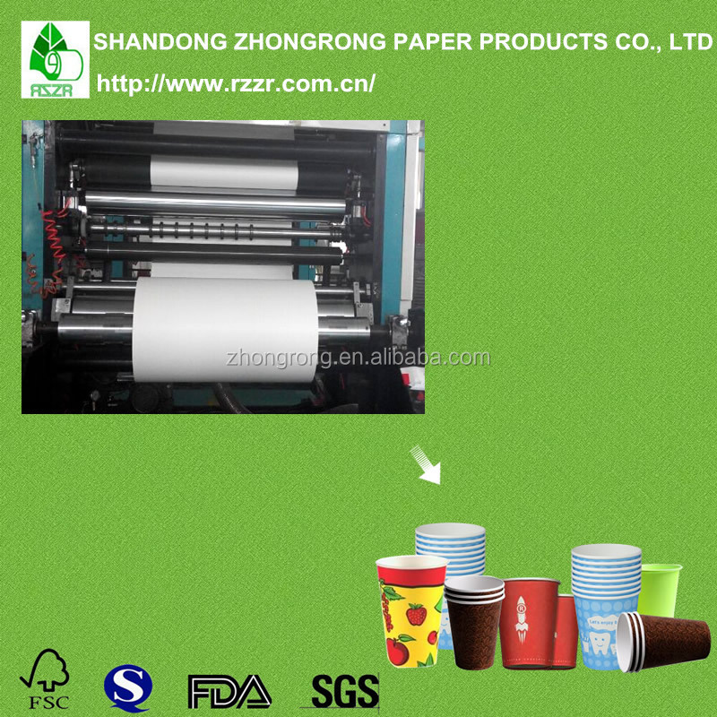 Best price 190 + 18 gsm pe coated paper for cup