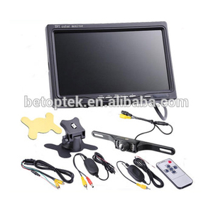7 Inch TFT LCD Digital Car Rear View Monitor with Wireless Night Vision Camera System