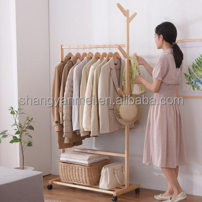 Fold the sitting room buy object placed the European and American real estate simple clothes tree hangers